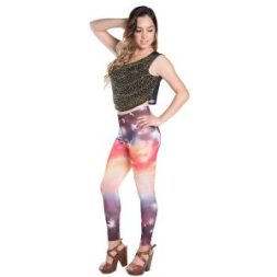 Vangoddy Sunrise Universe De Women S Full Length Legging Tights