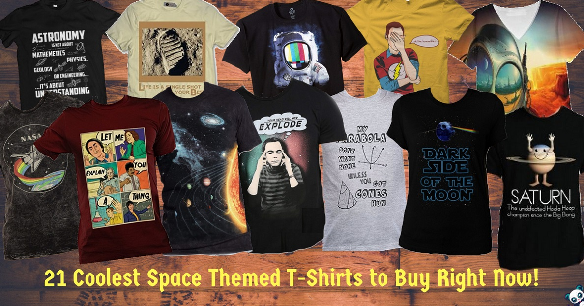 21 Coolest Space Themed T-Shirts to Buy Right Now