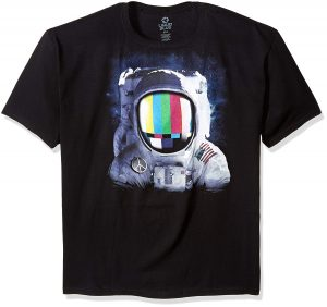 Liquid Blue Mens Space Station T Shirt