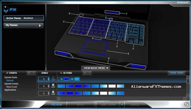 Blueblend M14x Alienware FX Theme