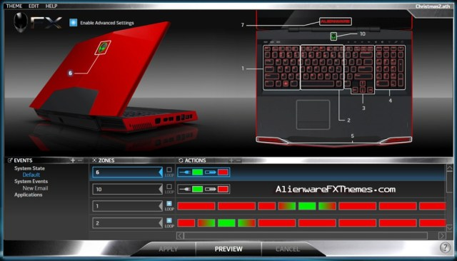 Christmas Theme 2 M17x Alienware FX Theme