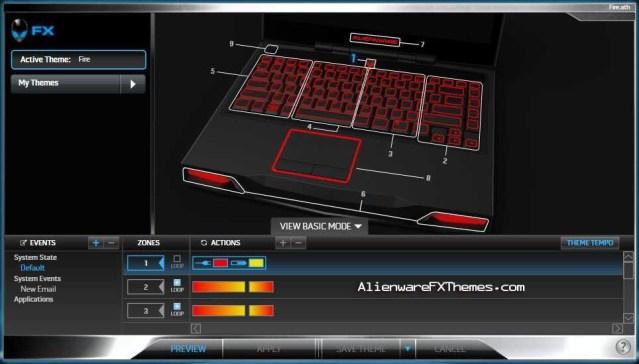 Fire M14x Alienware FX Theme