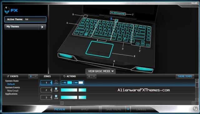 Ice M14x Alienware FX Theme