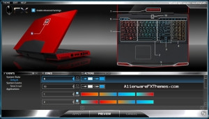 Left And Right Speaker And Touchpad Morphing M17x Alienware FX Theme