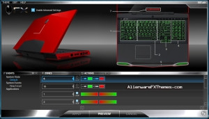 Red vs Green M17x Alienware FX Theme