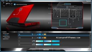 Tron3 M17x Alienware FX Theme