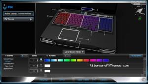 Rainbow Modified M17x R3 R4 Alienware FX Theme 3