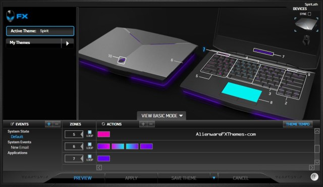 Spirit by Lizara 14 Alienware FX Theme