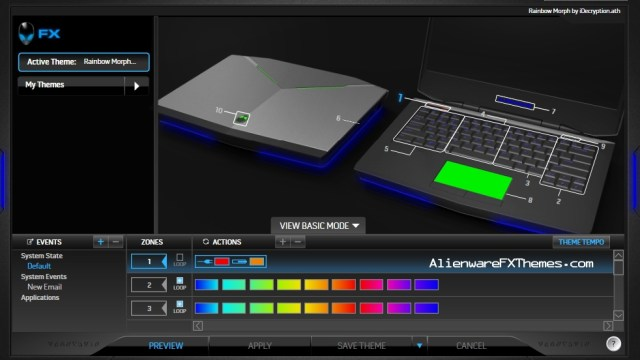 Rainbow Morph by iDecryption Alienware 14 FX Theme