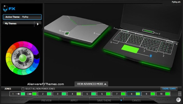 Pipboy by Noble Alienware 17 Fx Theme