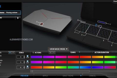 Phasing Rainbow by Aimz Alienware 13 R2 Fx Theme