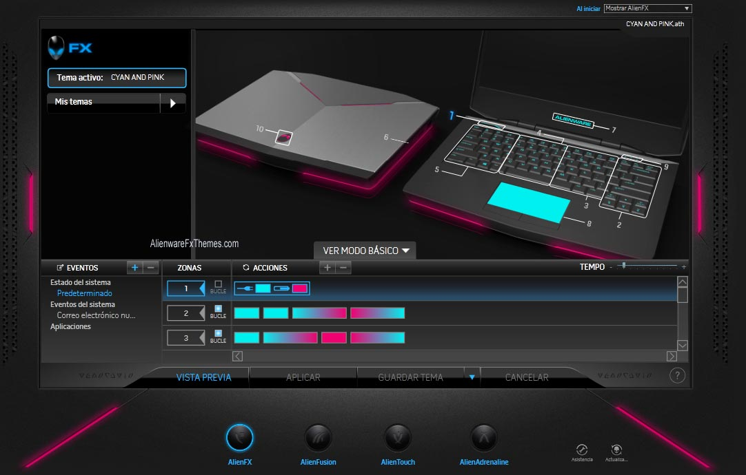 Cyan And Pink By Raul Alienware 14 Fx Theme