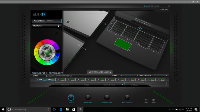 Dark Green by MorbidKing Alienware 17 R4 2016 Fx Theme