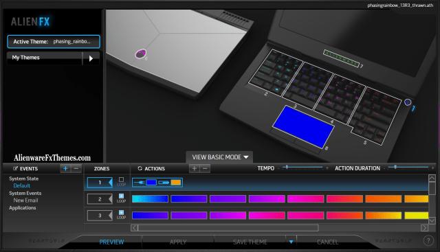Phasing Rainbow Thrawn V1 By Thrawn Alienware 13 R3 Fx Theme
