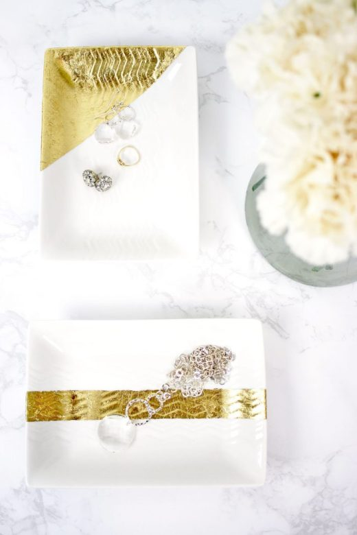 Homemade gold leaf trays