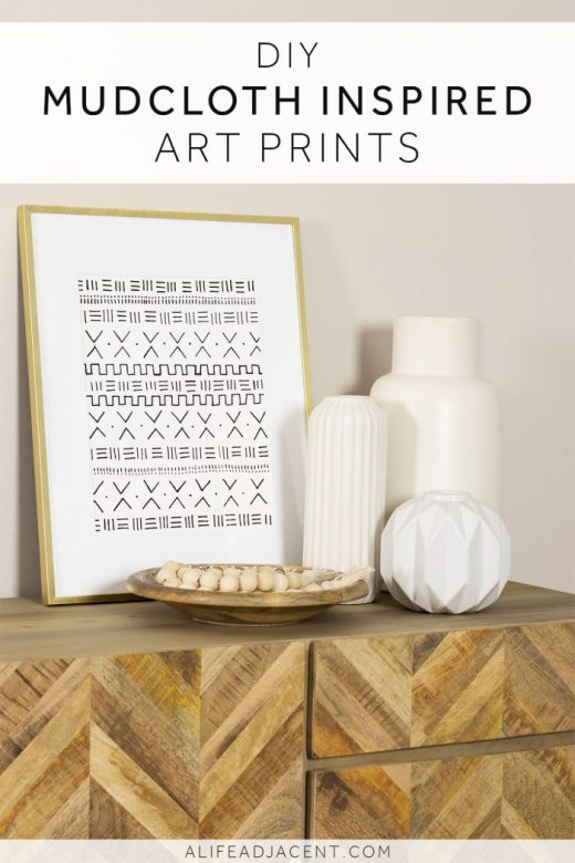Make your own DIY framed African mudcloth-inspired art