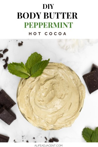 DIY peppermint hot cocoa body butter
