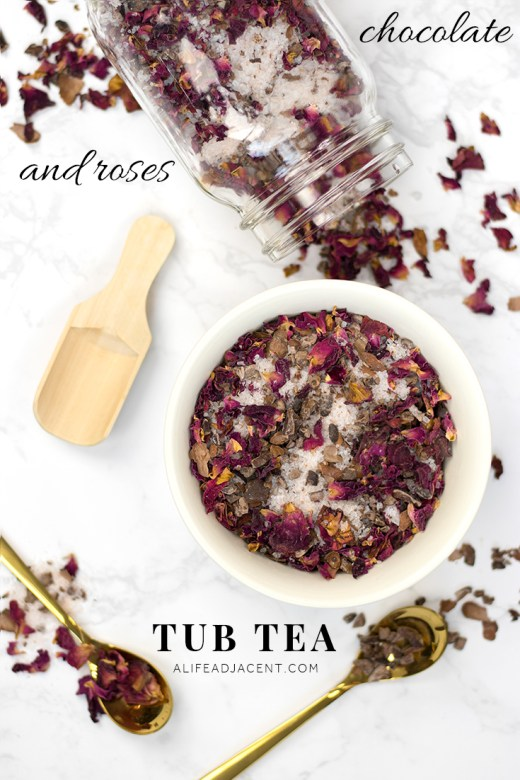 DIY chocolate rose tub tea