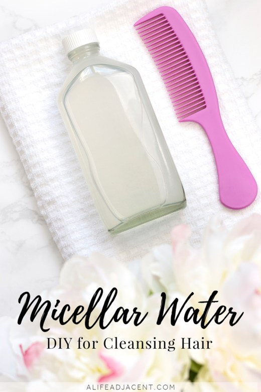 DIY micellar water for hair