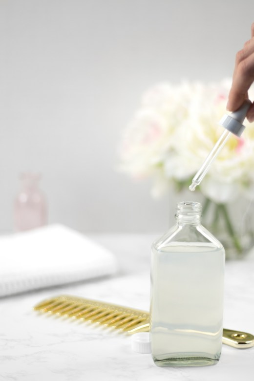 DIY micellar water for hair with essential oils