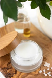 Homemade overnight face mask in glass jar