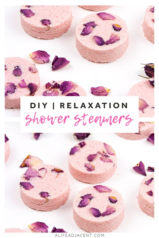 Homemade rose shower steamers for relaxation