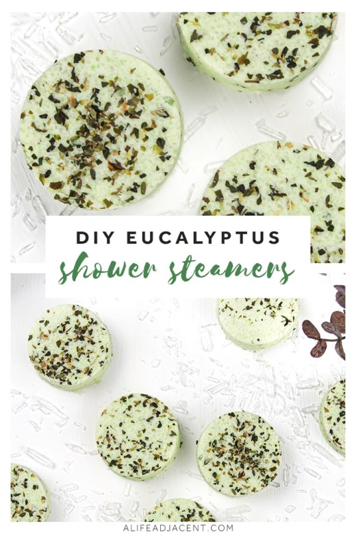 Eucalyptus DIY shower steamers with essential oils