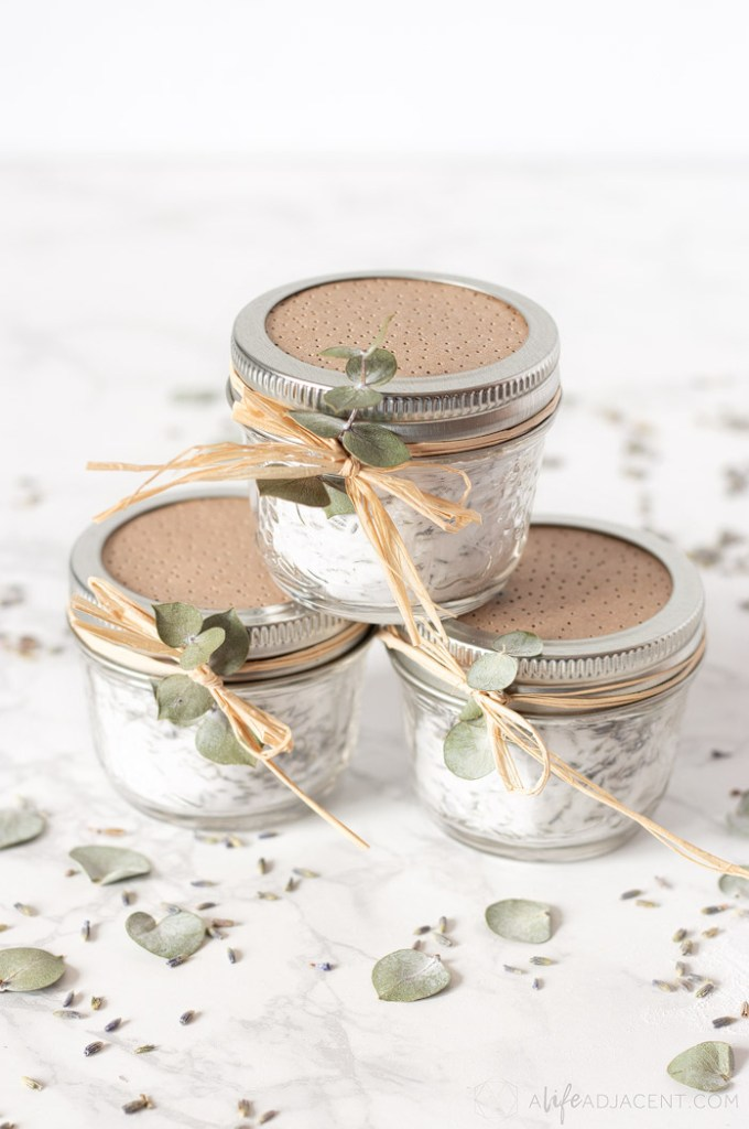 DIY air freshener jars with essential oils