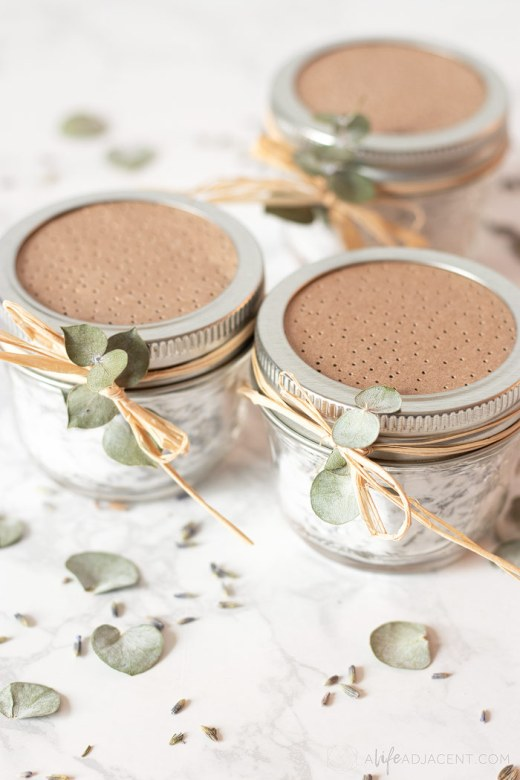 Homemade mason jar air fresheners
