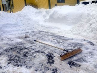 did they shovel it out or sweep it out?