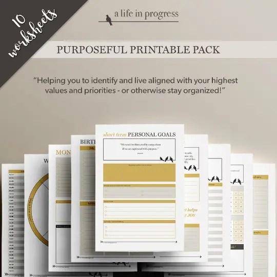 purposeful printable pack