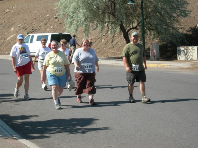 Walking in my first 5k event.