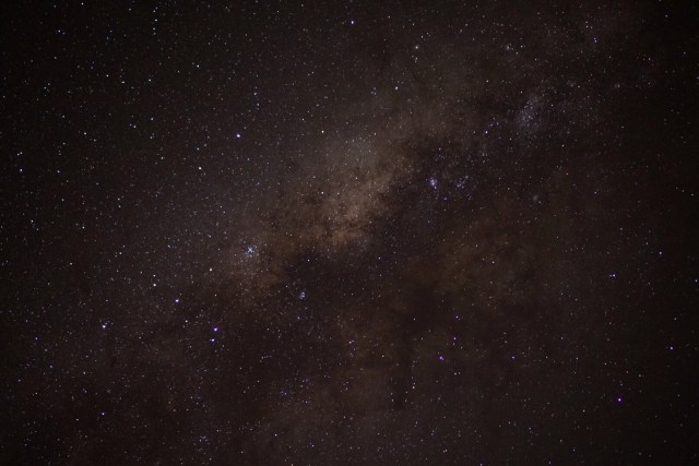 Zoomed in view of the Milky Way. (Photo by Chris)