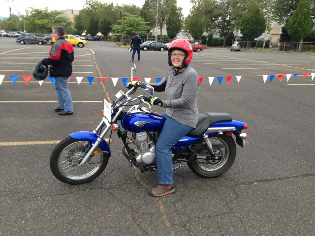 Learn to ride a motorcycle. Check! It wasn't nearly as hard as I imagined it would be.