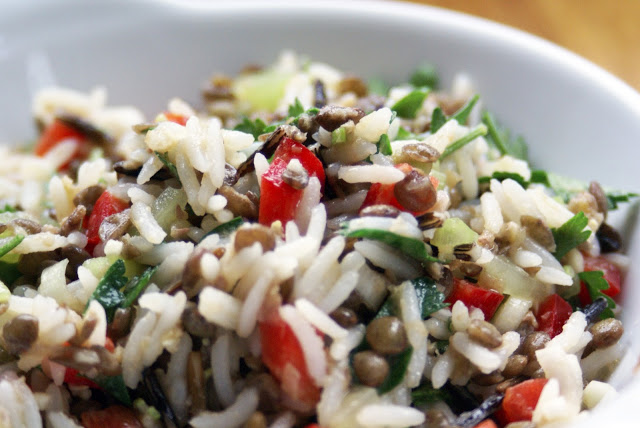 M&S Inspired Wild Rice and Lentil salad