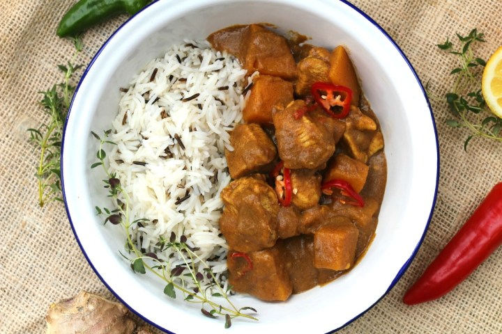 West Indies style curry with butternut & chicken