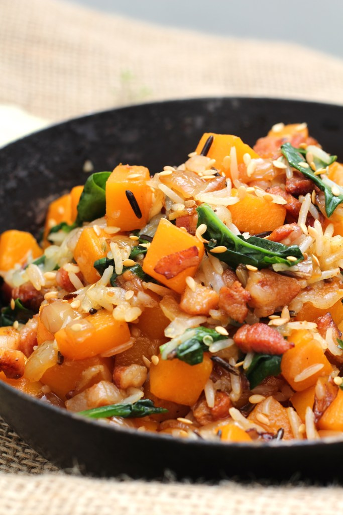 pancetta butternut rice