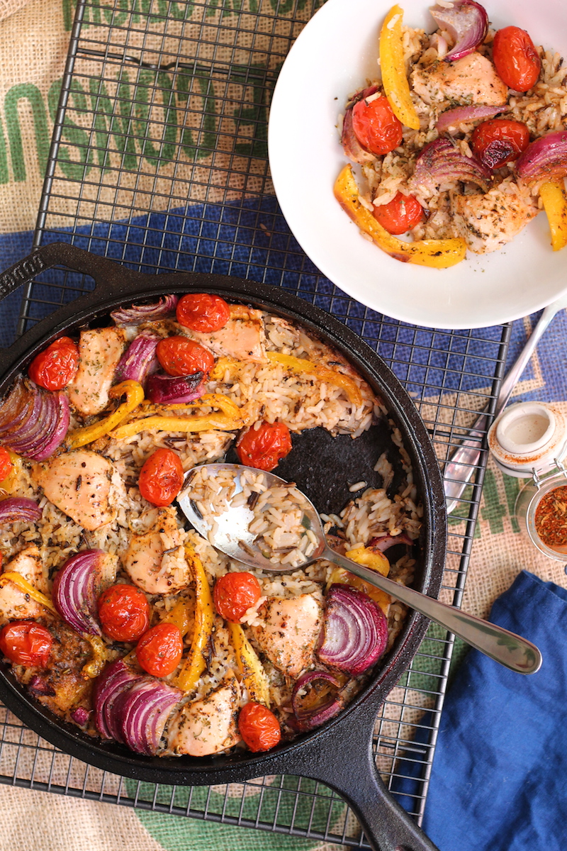 Cajun chicken one pot rice bake. An easy , one pot week night meal, just throw all the ingredients together| www.alifeofgeekery.co.uk