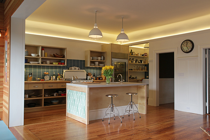 Wondering how to break up spot lights, imitate day light and add some style to your kitchen lighting? This post covers all of the above.