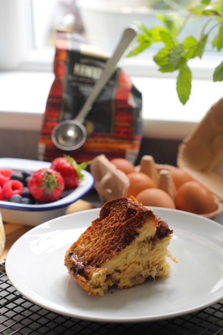 tiramisu bread and butter pudding