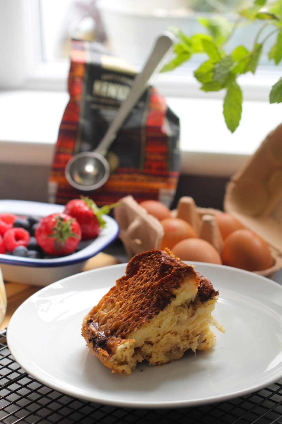 tiramisu bread and butter pudding