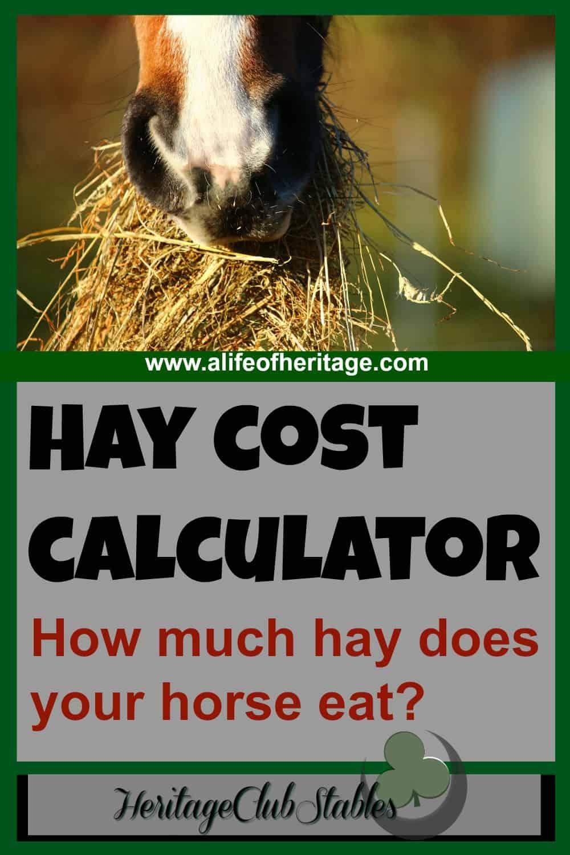 hay cost calculator a of heritage