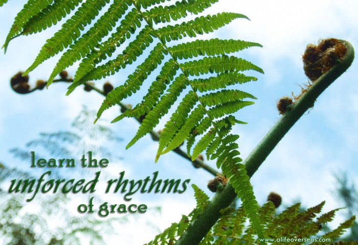 Learn the unforced rhythms of grace