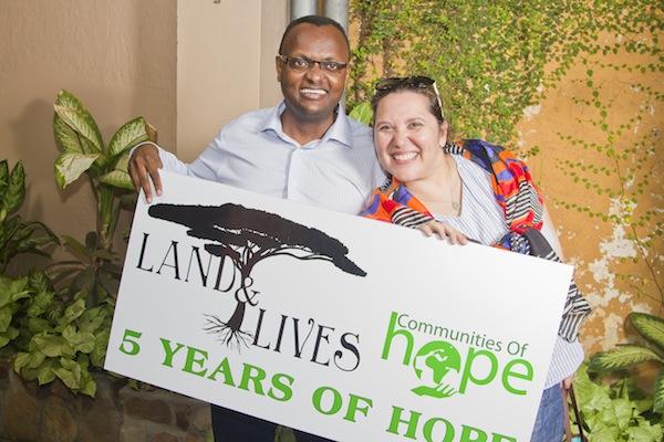 Claude & I celebrating 5 years of community development in Burundi!
