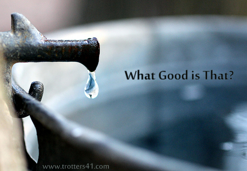 """For the times when you ask, """"What good is that?"""""""