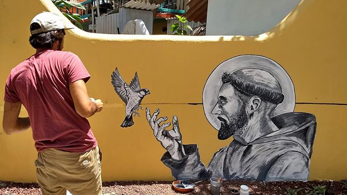 san pancho art mural graffiti sayulita mexico nayarit