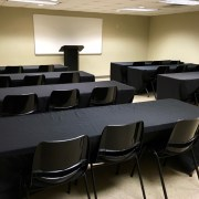 Boardroom where local businesses come to learn about marketing and search engine optimization.