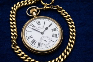 """Gold watch representing a """"return on investment"""" to symbolize the rise in revenue you can get with expert search engine marketing."""