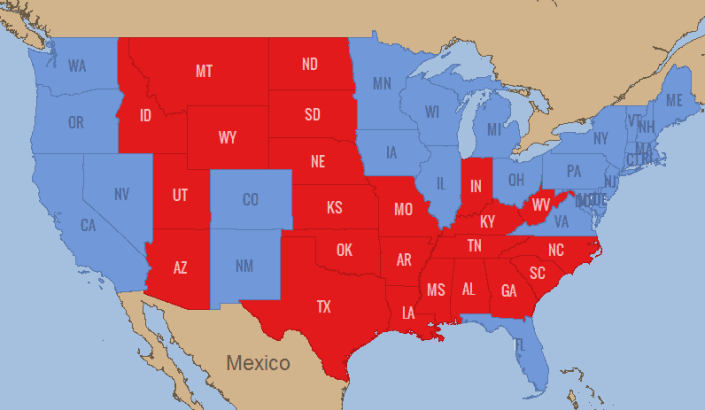 2012 State Based Election Results
