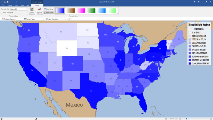 Thematic Analysis of Obama Votes 2012